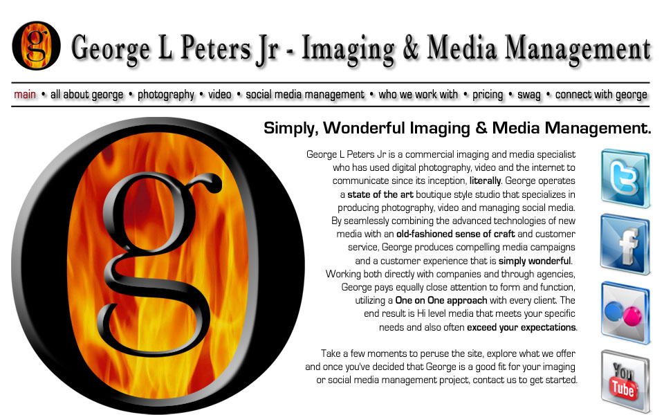This is the image map file for the front page interface of georgepeters.com. It is one big image.